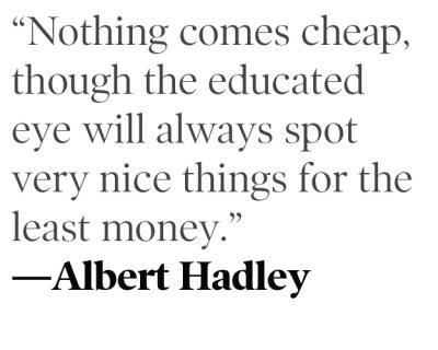 The Price of Style According to Mr. Albert Hadley