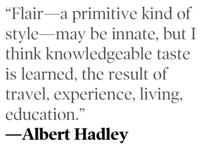 Style According to Mr. Albert Hadley