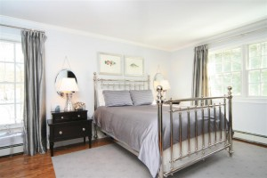 Gray Color Scheme in a Bedroom