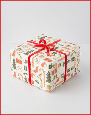 anthro gift wrap christmas