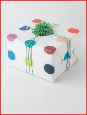 anthro gift wrap dots