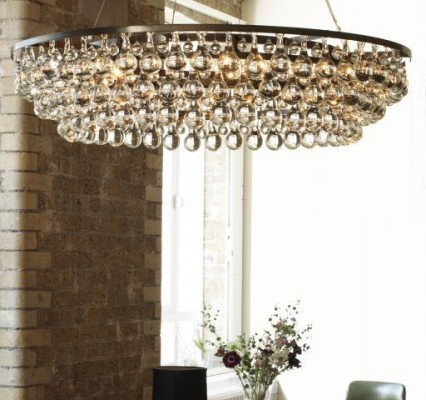 artic pear chandelier ochre ad