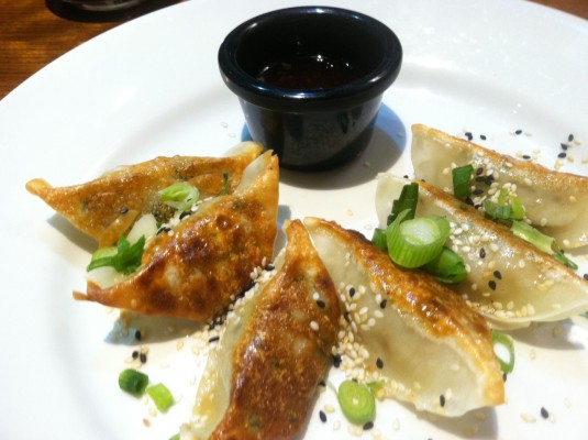 gyoza dumplings at mildreds