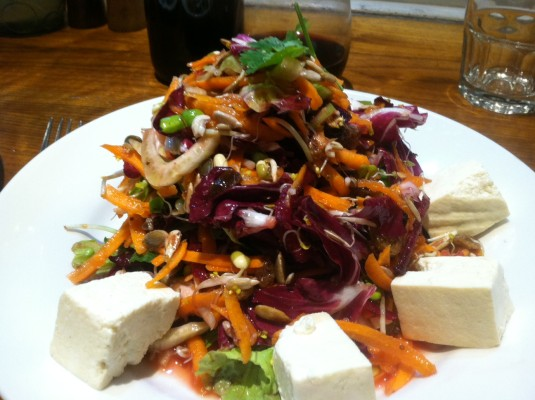 Detox salad at Mildreds